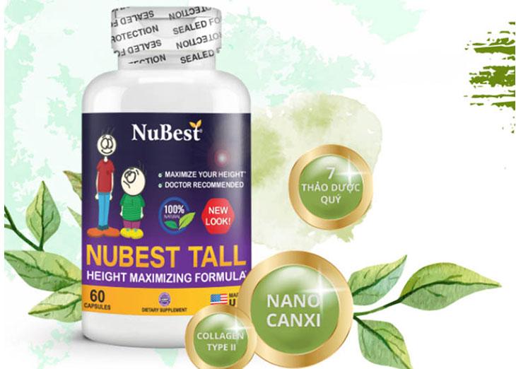 Nubest Tall là viên uống có tác dụng hỗ trợ chiều cao của trẻ