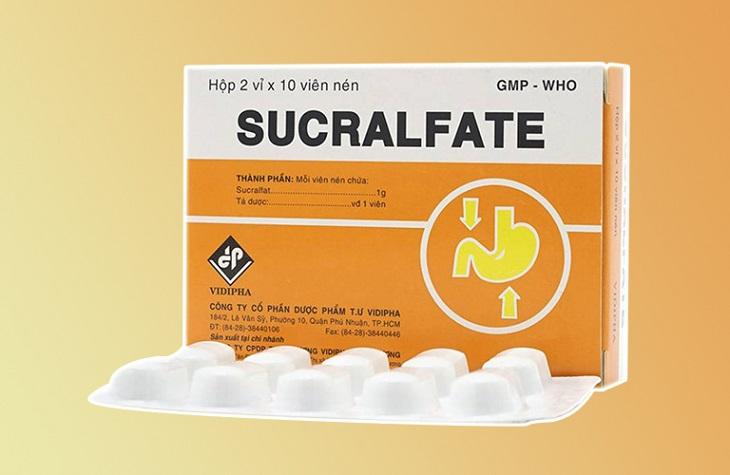 Sucralfate được bào chế dưới dạng gel dễ uống