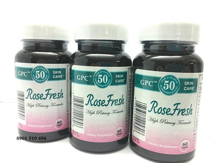 Rose Fresh - Viên uống trị mụn hiệu quả cao nhất hiện nay