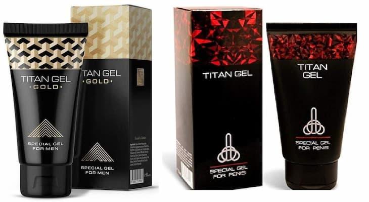 Sản phẩm có hai dòng chính là Titan Gel đỏ và Titan Gel Gold