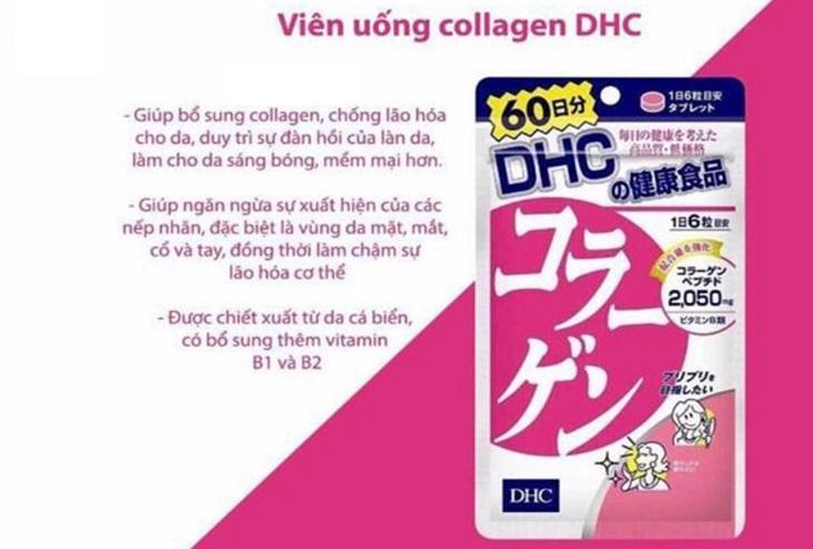 Collagen DHC mang lại nhiều công dụng tuyệt vời cho phái đẹp