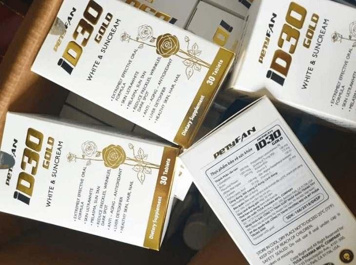 Petyfan ID30 GOLD được ghi nhận có công dụng dưỡng da, chống nắng vượt trội