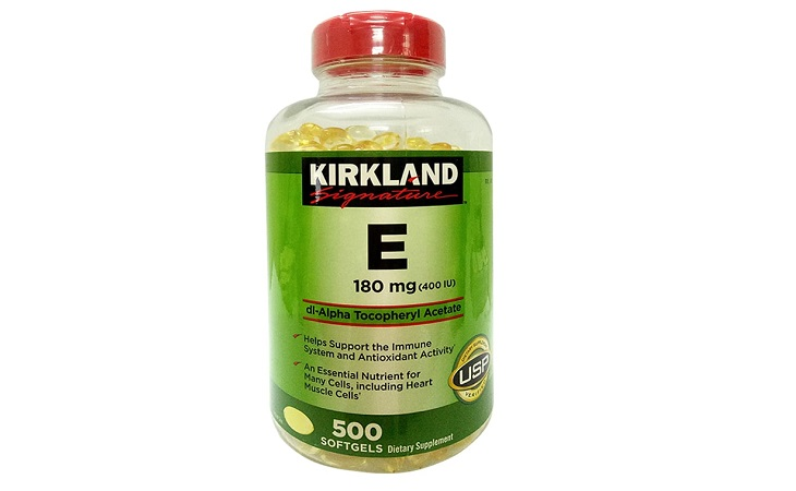 Kirkland Signature 400 I.U - sản phẩm viên uống đẹp da Vitamin E