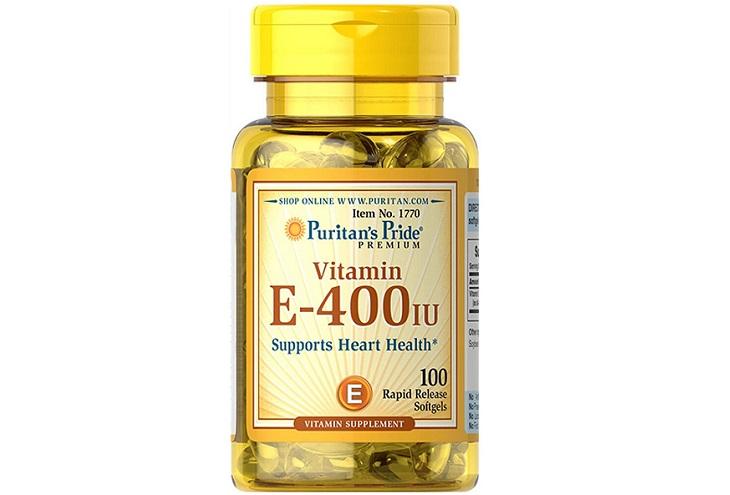 Viên uống đẹp da Vitamin E 400 IU Puritan's Pride