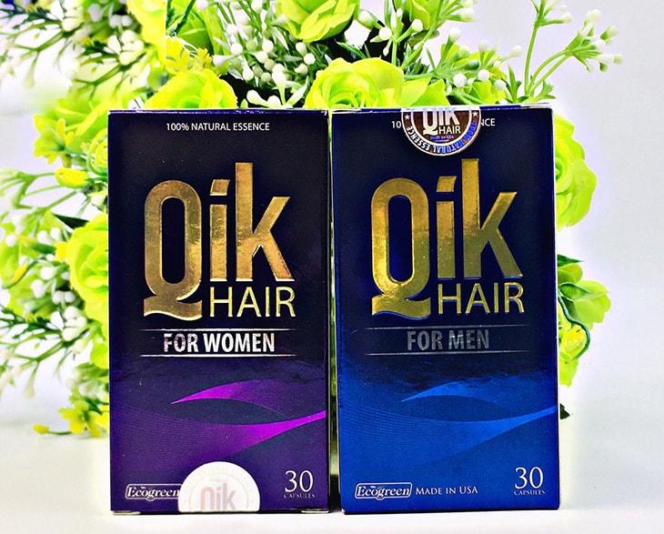 Bao bì Qik Hair cho nam và cho nữ hộp 30 viên