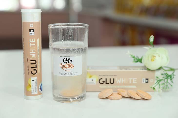 Viên uống trắng da an toàn, hiệu quả Gluwhite được bào chế dưới dạng sủi rất tiện sử dụng