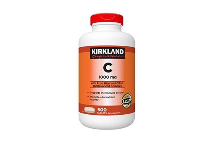Vitamin C đẹp da Kirkland của Mỹ là sản phẩm quen thuộc trên thị trường