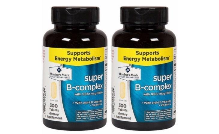 Viên uống Super B-Complex with Biotin Vitamin B Vitamin C Member's Mark