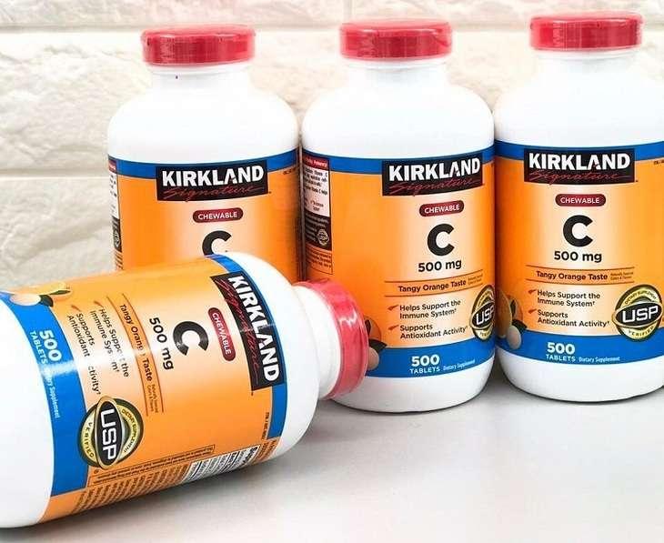 Viên uống vitamin C Kirkland có xuất xứ từ Mỹ