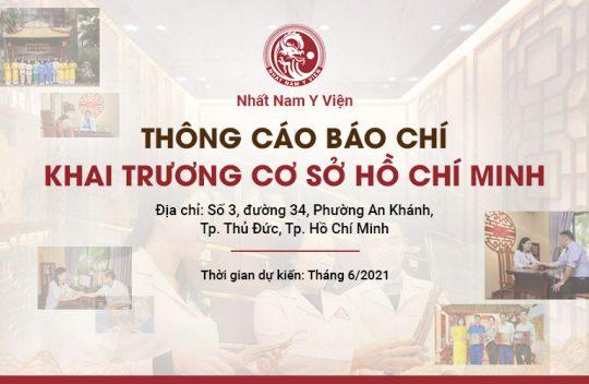 THÔNG CÁO BÁO CHÍ: Nhất Nam Y Viện khai trương cơ sở 2 tại Hồ Chí Minh