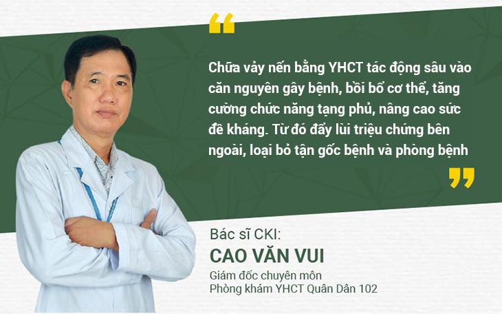 Bác sĩ Cao Văn Vui - Giám đốc chuyên môn Phòng khám Đa khoa YHCT Quân dân 102