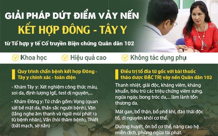 Giải pháp điều trị vảy nến Quân dân 102 bằng Đông y có biện chứng