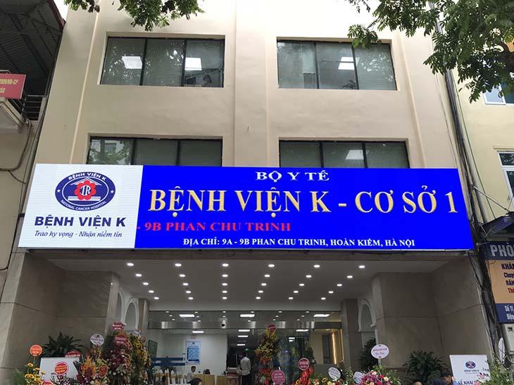 Bệnh viện K là cơ sở điều trị tốp đầu của cả nước