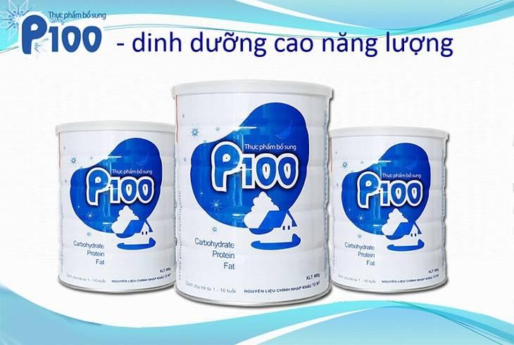 Sữa P100 tăng cân, hỗ trợ phát triển trí thông minh