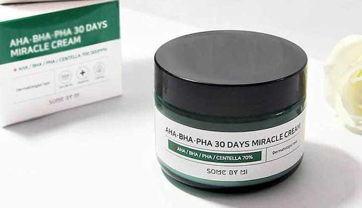 AHA-BHA-PHA 30 Days Miracle Cream là thuốc trị mụn Hàn Quốc được đánh giá cao thời gian gần đây