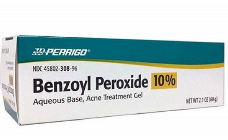 Thuốc trị mụn tuổi dậy thì Benzoyl Peroxide nhận được nhiều đánh giá cao về mức độ hiệu quả