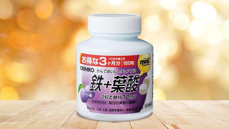 Acid Folic Orihiro Most Chewable Iron Nhật Bản vượt qua nhiều kiểm định khắt khe, đạt tiêu chuẩn quốc tế về chất lượng