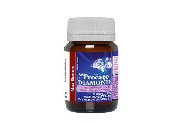 Vitamin Úc cho bà bầu PM Procare Diamond bổ sung vitamin cho mẹ, DHA cho bé