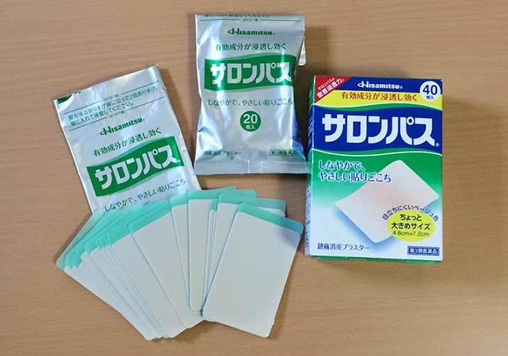 Miếng dán Salonpas của Nhật Bản là sản phẩm phổ biến ở thị trường nước ta