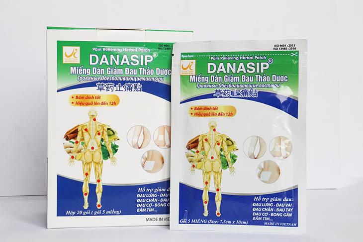 Miếng dán Danasip giúp giảm đau nhanh chóng và hiệu quả