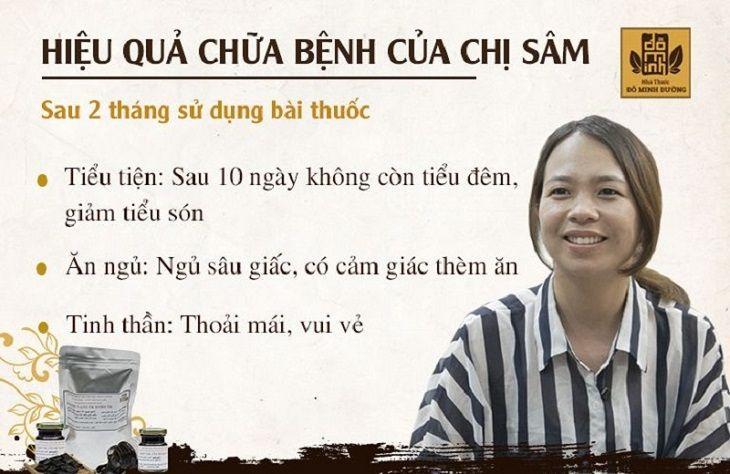 Hiệu quả chữa bệnh của chị Sâm sau 2 tháng sử dụng bài thuốc