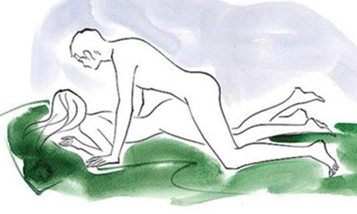 Bạn có thể áp dụng tư thế này để tạo cảm giác mới mẻ mỗi lần gần gũi nàng
