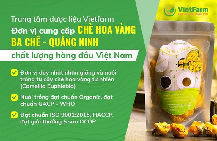 Trung tâm dược liệu Vietfarm - Đơn vị cung cấp trà hoa vàng uy tín, chất lượng nhất trên thị trường hiện nay
