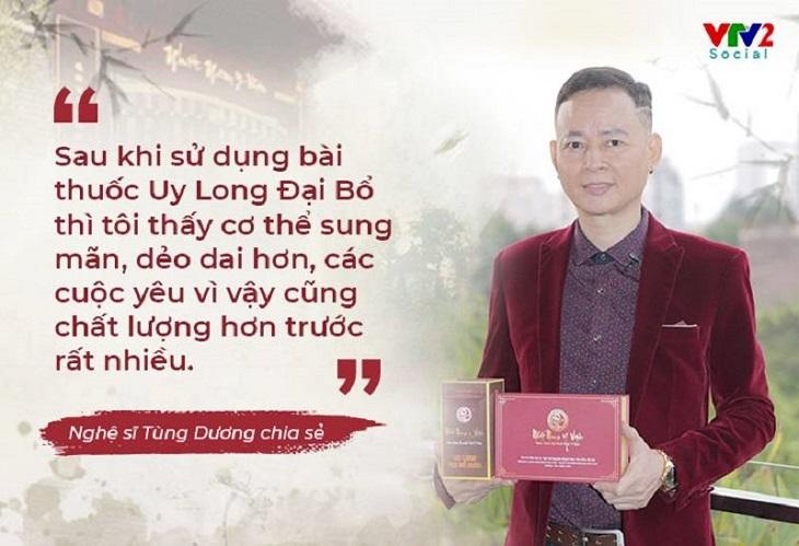 Nghệ sĩ Tùng Dương tin tưởng lựa chọn bài thuốc Uy Long Đại Bổ