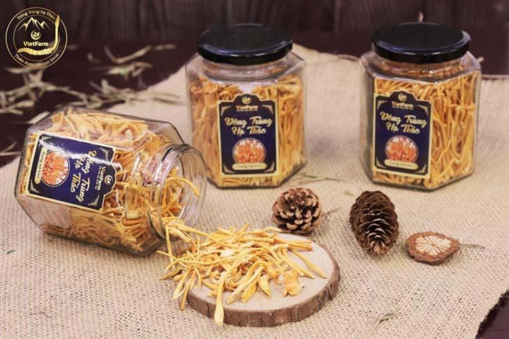 Sản phẩm Đông trùng hạ thảo Vietfarm sợi nấm sấy khô