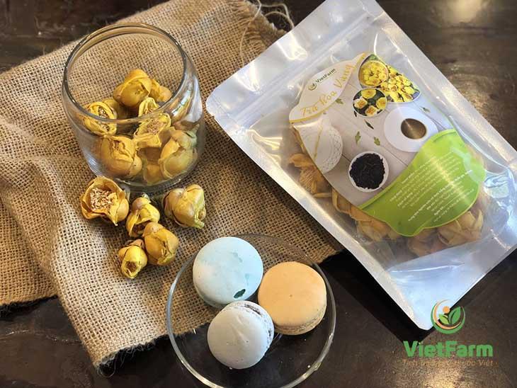 Trà hoa vàng Vietfarm có chất lượng tốt, hàm lượng dược tính cao