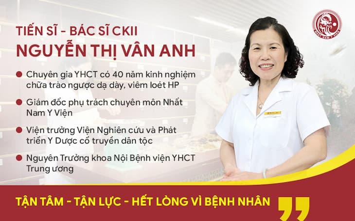 Bác sĩ Nguyễn Thị Vân Anh từng đảm nhận nhiều vị trí quan trọng trong các đơn vị YHCT hàng đầu cả nước
