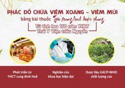 Phác đồ điều trị viêm xoang không kháng sinh, không xâm lấn từ Thái Y Viện triều Nguyễn