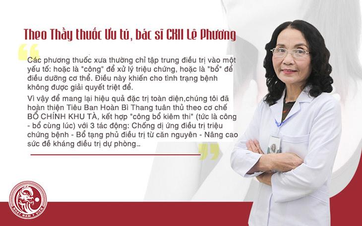 Bác sĩ Lê Phương chia sẻ vè cơ chế điều trị của bài thuốc Tiêu Ban Hoàn Bì Thang