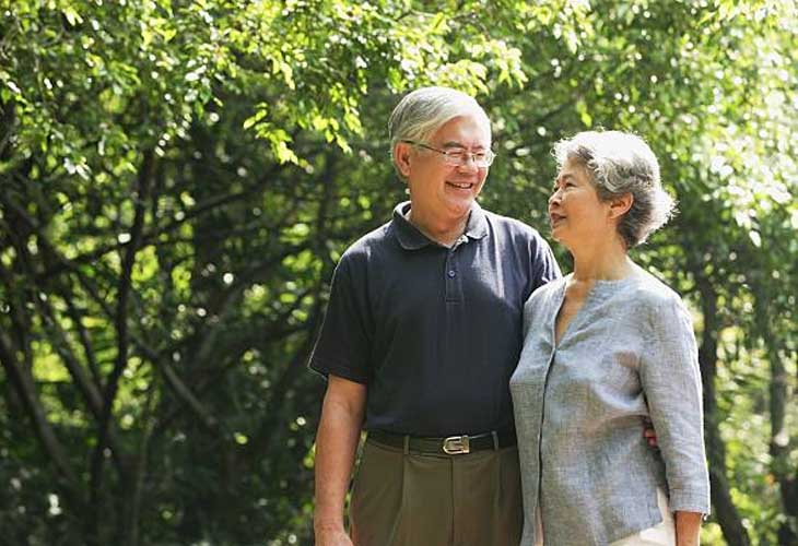 Ông Minh và vợ khỏe mạnh sau thời gian điều trị ho tại Nhất Nam Y Viện