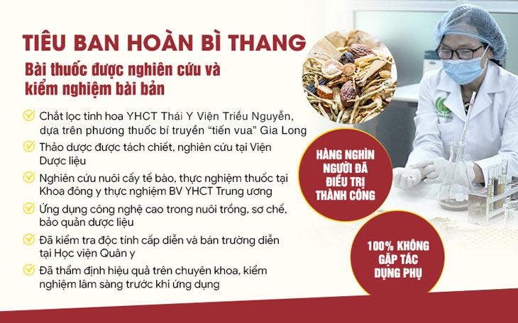 Bài thuốc Tiêu Ban Hoàn Bì Thang được nghiên cứu chuyên sâu, bài bản