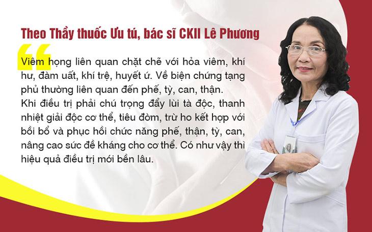 Bác sĩ Lê Phương giải thích về căn nguyên gây viêm họng